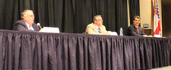 "Oxford Mayor Candidates: George ""Pat"" Patterson, Jason Plunk, and Todd Wade. Photograph by Newt Rayburn."