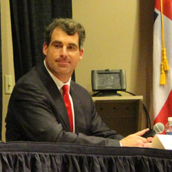Oxford Mayor candidate Todd Wade at the recent Community Forum.