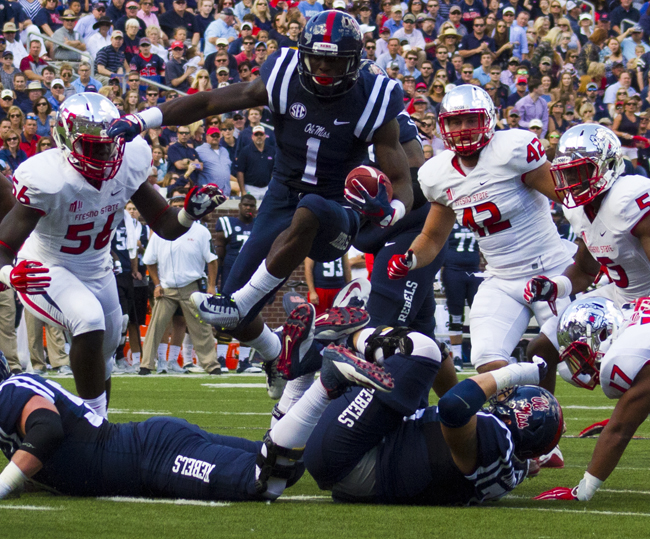Laquon Treadwell - Ole Miss Rebels - Photograph by Shelby Rayburn - The Local Voice