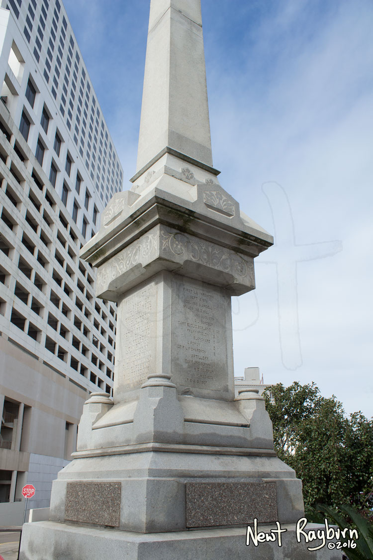 The Battle of Liberty Place monument in New Orleans, Louisiana, January 2, 2016. Photograph © 2016 Newt Rayburn - newtrayburn@gmail.com