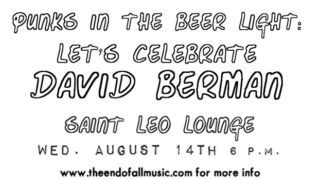 Join The End of All Music for a Celebration of David Berman at Saint Leo Lounge Wednesday, August 14